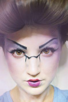 halloween tutorial. ghostly geisha. www.iamalizarin.blogspot.com