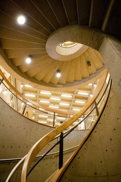 Ball State University - the Bracken Library staircase. Such an awesome photo