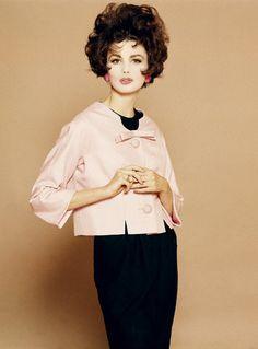 Dorthea McGowan in Pink Silk Jacket by Mainbocher