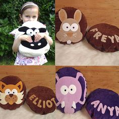 Personalised Teeny Beanie Character Cushions
