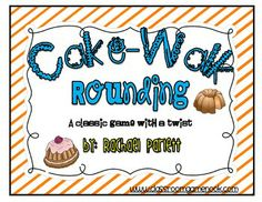 Here's a game for practicing rounding. Students play in the style of a cake-walk game where they walk around in a circle to the beat of music, walking over number cards. When the music stops, the students freeze on the number they are standing on. The teacher calls out a number and any student who is standing on the rounded number gets one point.