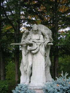 archangel michael - lake view cemetery cleveland, ohio