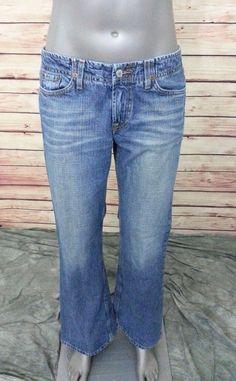 Lucky Brand Jeans Jet Setter womens size 6 / 28 100% cotton sandblasted #LuckyBrand #Flare