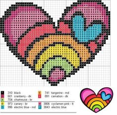 Thrilling Designing Your Own Cross Stitch Embroidery Patterns Ideas. Exhilarating Designing Your Own Cross Stitch Embroidery Patterns Ideas. Free Cross Stitch Charts, Cross Stitch Heart, Counted Cross Stitch Kits, Crochet Cross, Crochet Chart, Free Crochet, Perler Patterns, Loom Patterns, Beading Patterns