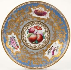 Imperial Porcelain Manufactory Hand Painted Porcelain Plate, from the period on Tzar Nickolas I.