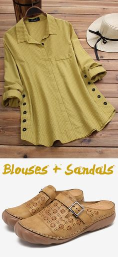I love Casual Style Blouses & Sandals Cool Outfits, Fashion Outfits, Womens Fashion, Fashion Trends, Kurta Designs, Blouse Designs, Look 2018, Casual, What To Wear