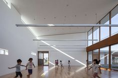 Japanese architects Aisaka Architects' Atelier have created a large nursery school in Chiba, Japan, whose structure is intended to provide an immersive and e...