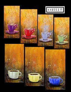 Pretty artwork. I would admire these while enjoying my coffee.