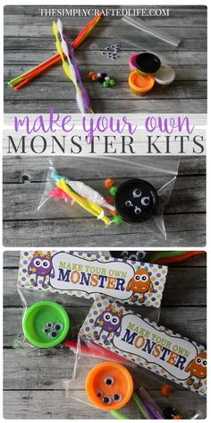 These adorable little Halloween Play Doh Monster Kits are the perfect treat for the classroom this October - or make them up as favors for a Monster Birthday Party! halloween nails, halloween costume s, awesome halloween costume Preschool Halloween Party, Halloween 1st Birthdays, Monster 1st Birthdays, Halloween Class Party, Halloween Games For Kids, Fete Halloween, Halloween Birthday, Halloween Party Favors, Halloween Stuff