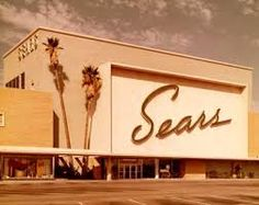 "This is MY Sears! I must have spent a quarter of my childhood at this place. It didn't hurt that they had a great candy counter. Also, once 1967 struck, they renamed their Junior Department ""The Lemon Frog Shop."" It was psychedelia a la Sears. My Childhood Memories, Sweet Memories, Vintage Signs, Vintage Photos, Logo Label, North Hollywood, Old Signs, Googie, Ol Days"