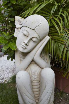 Garden view statue Caribbean Vacations, Silver Anniversary, Garden Sculpture, Romantic, Statue, Beach, Spaces, Room, Bedroom