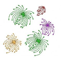 "Tired of the cold weather and ready for Summer?  Here's a free embroidery design that's perfect for the 4th of July.  It is called ""Abstract..."