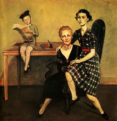 """Via ~moxie moksi. Balthus, """"el erotismo arcangélico"""" Visitors and friends of family -writers such as André Gide, Jean Cocteau,(who found some inspiration for novel Les Enfants Terribles in visits to the family). Google"""
