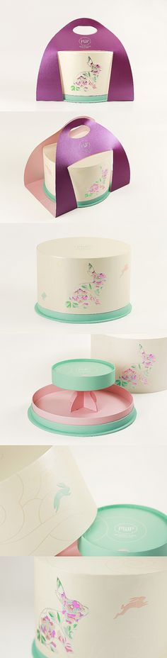 Using Polytrade's fancy paper, this prototype with snowy mooncakes gift box as concept emphasises a chic look with pastel-coloured varnishing. Yet, design-wise, it still highlights the signatures of Mid-Autumn Festival. The box is turned into a tiered pastry stand that elegantly presents and serves mooncakes at your fingertips.