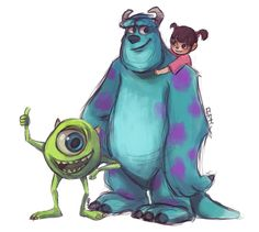 Mike, Sulley and Boo by Rosana127 on DeviantArt