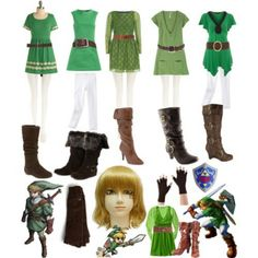 Differents Link inspired casual outfits  #Zelda