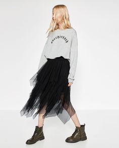 Image 2 of FRILLY TULLE SKIRT from Zara