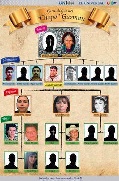 La familia del 'Chapo' Guzmán: INFOGRAFÍA