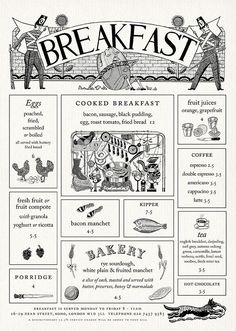 Page from Quo Vadis website with Illustrations by John Broadley. Menu design by Julian Roberts at Irving. Website design by Thumbcrumble Menu Restaurant, Restaurant Brasserie, Restaurant Identity, Restaurant Design, Cafe Menu Design, Menue Design, Menu Illustration, Menu Layout, Vintage Menu