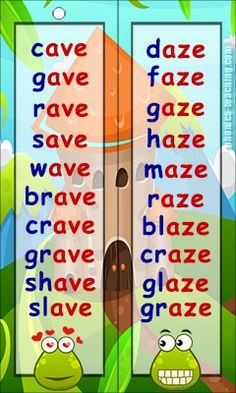 ave words aze words - FREE Printable Word List - for Phonics Lessons Phonics Chart, Phonics Flashcards, Phonics Blends, Phonics Words, Phonics Worksheets, Phonics Reading, Reading Comprehension Worksheets, Teaching Phonics, Kindergarten Reading