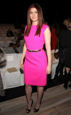 Debra Messing  Wow. The Smash star and Michael Kors fan really pops in this hot-pink dress!