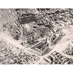 Aerial View Of Ypres In 1915 After First And Second Battles Of Ypres The Two Major Buildings Are The Cloth Hall Front And Cathedral Of Saint Martin Behind From The War Illustrated Album Deluxe Publish