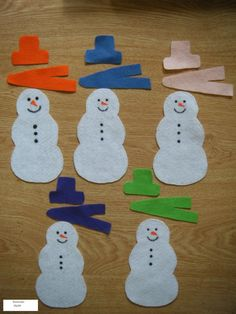 snowman felt board - could even have carrot noses and coal buttons/eyes to put on