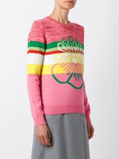 Kenzo striped flower sweater