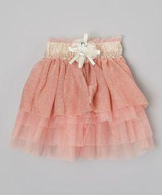 Look at this #zulilyfind! Light Pink Shimmer Skirt - Toddler & Girls by Kid Swag #zulilyfinds