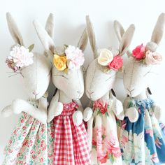 Garden Party Bunnies by PeanutAndElliott