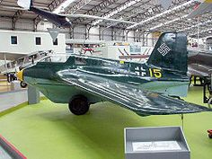 Me 163B-1a en el National Museum of Flight en Escocia.