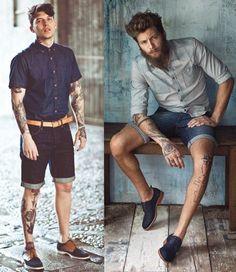 Looks Homens Bermuda Jeans (2)