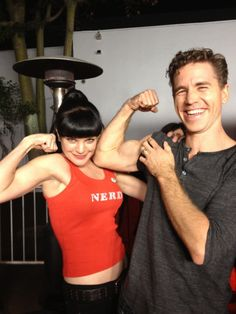 Pauley Perrette and Brian Dietzen (Abby and Jimmy on NCIS)