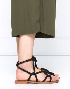 ROPE SANDALS - WOMEN'S SHOES - WOMAN - PULL&BEAR Romania