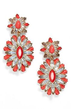 Free shipping and returns on BaubleBar 'Copacabana' Drop Earrings at Nordstrom.com. Cheery pops of coral enamel brighten up a pair of vintage-inspired drop earrings studded with iridescent crystals.