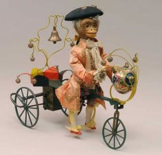 Monkey on Velocipede automaton by Vichy