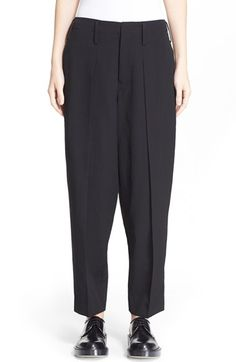 Y's by Yohji Yamamoto Tuck Front Wool Trousers available at #Nordstrom