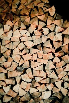 I have to say, it really is pure happiness to see your fire wood pile stacked high!!!~SB