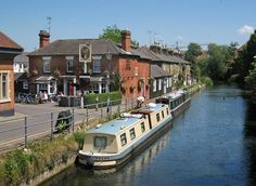The Old Barge Pub, Hertford Britain Uk, Great Britain, Country Homes, Ponds, Rivers, Countryside, Seaside, Places Ive Been, Balls