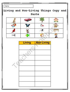 Copy and Paste Practice in Microsoft Word - Living & Non-living Things from Miss Kay's Computer on TeachersNotebook.com -  (1 page)  - One page activity designed to help students practice their copying and pasting skills in Word, while using what they know about science!