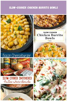 Bacon Cheeseburger Crock Pot Tater Tot Casserole - Easy slow cooker twist on a classic Tater Tot Casserole! It's creamy, cheesy and comfort food made easy! #bacon #crockpot #comfortfood #easyrecipe Visit julieseatsandtreats.com for more easy, family, friendly recipes and stress-free dinner time! @julieseats Crockpot Recipes