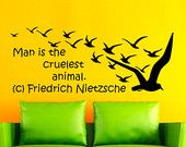 Wall Vinyl Decal Sticker Motivation Quote By Friedrich Nietzsche Wall Lettering Art Design Room Nice Picture Decor Hall Wall NA169