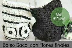 Bolso Saco de Crochet con Flores Patron - Patrones Crochet