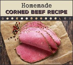 beef sausage This homemade corned beef recipe allows you to make corned beef without nitrates and nitrites. Himalayan Salt adds nice color, flavor, and health benefits! Homemade Corned Beef, Corned Beef Recipes, Sausage Recipes, Meat Recipes, Recipies, Homemade Pastrami, Corned Beef Brisket, Corned Beef Seasoning, Pickling