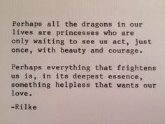 Rainer Maria Rilke quote on courage by WORDJOY on Etsy, $7.00