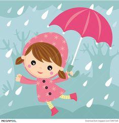 Rainy day cartoon - quotes of the day Cartoon Quotes, Cartoon Pics, Rainy Day Pictures, Rainy Day Quotes, Happy Birthday Foil Balloons, I Love Rain, Rain Days, I Love Winter, Good Morning Good Night