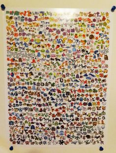 Every Single Pokemon Poster 18x24 by OneEyedMe on Etsy, $15.00