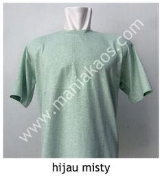 Kaos O-neck Lengan Pendek Hijau Misty.