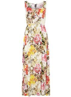 Summer Floral Print Maxi Dress