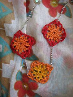 Mini Granny Squares Necklace, Little Treasures